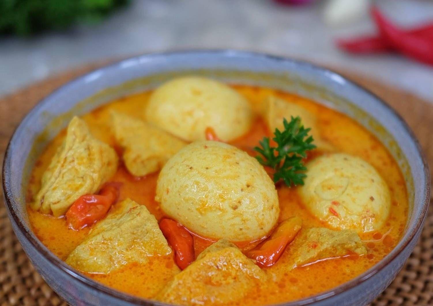 Resep Tahu Telur Bumbu Rujak Oleh Susi Agung Resep Resep Tahu Ide Makanan Telur Bumbu