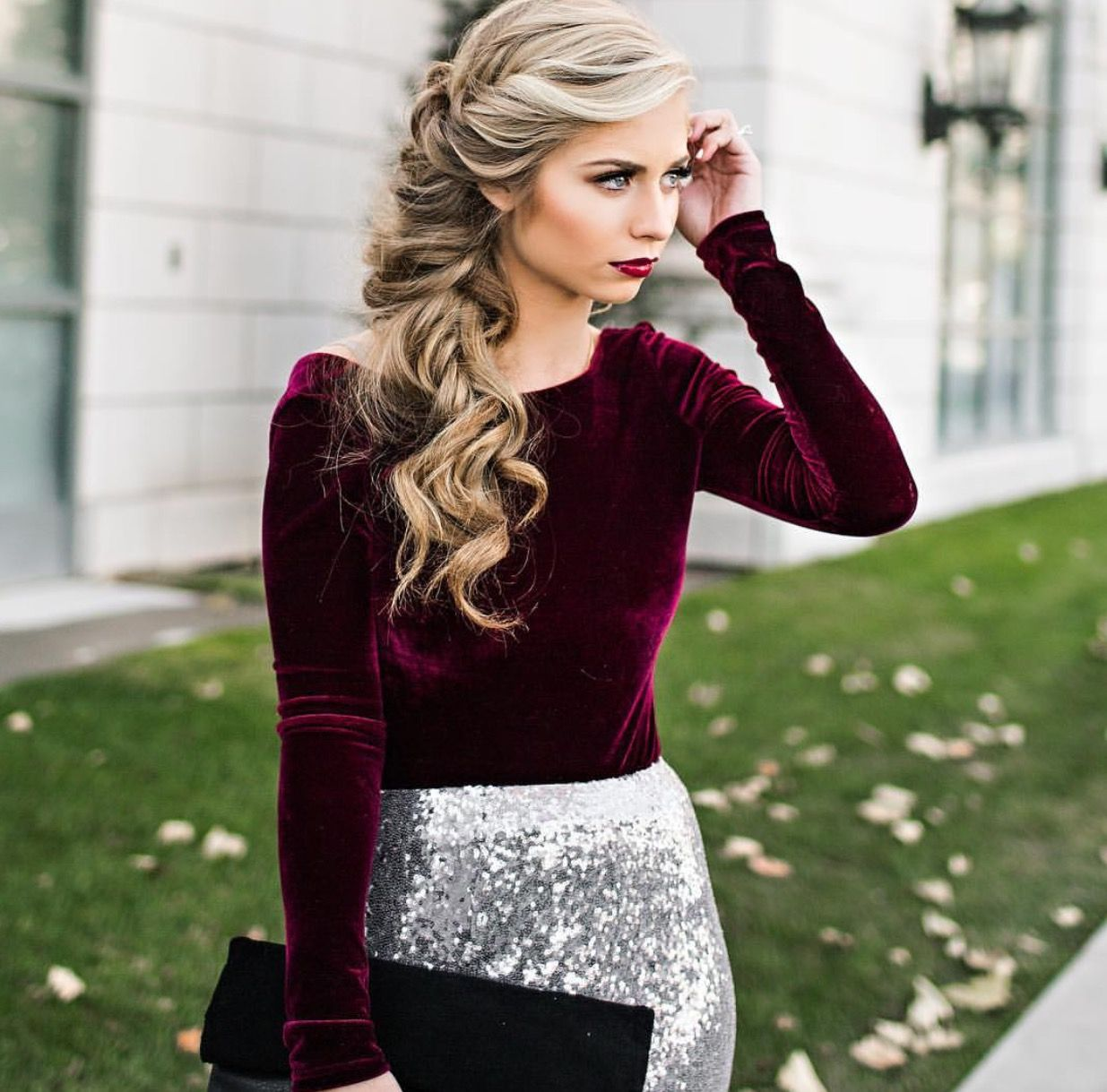 Holiday party attire fashion board pinterest hair style