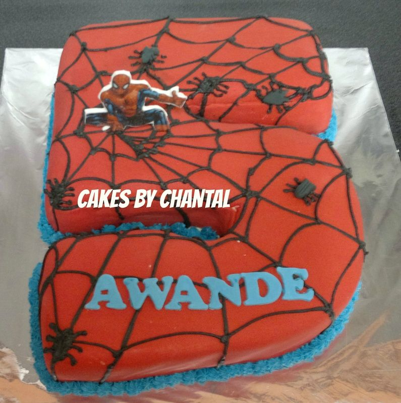 No 5 Spiderman Cake Aiden Spiderman Superhero Cake