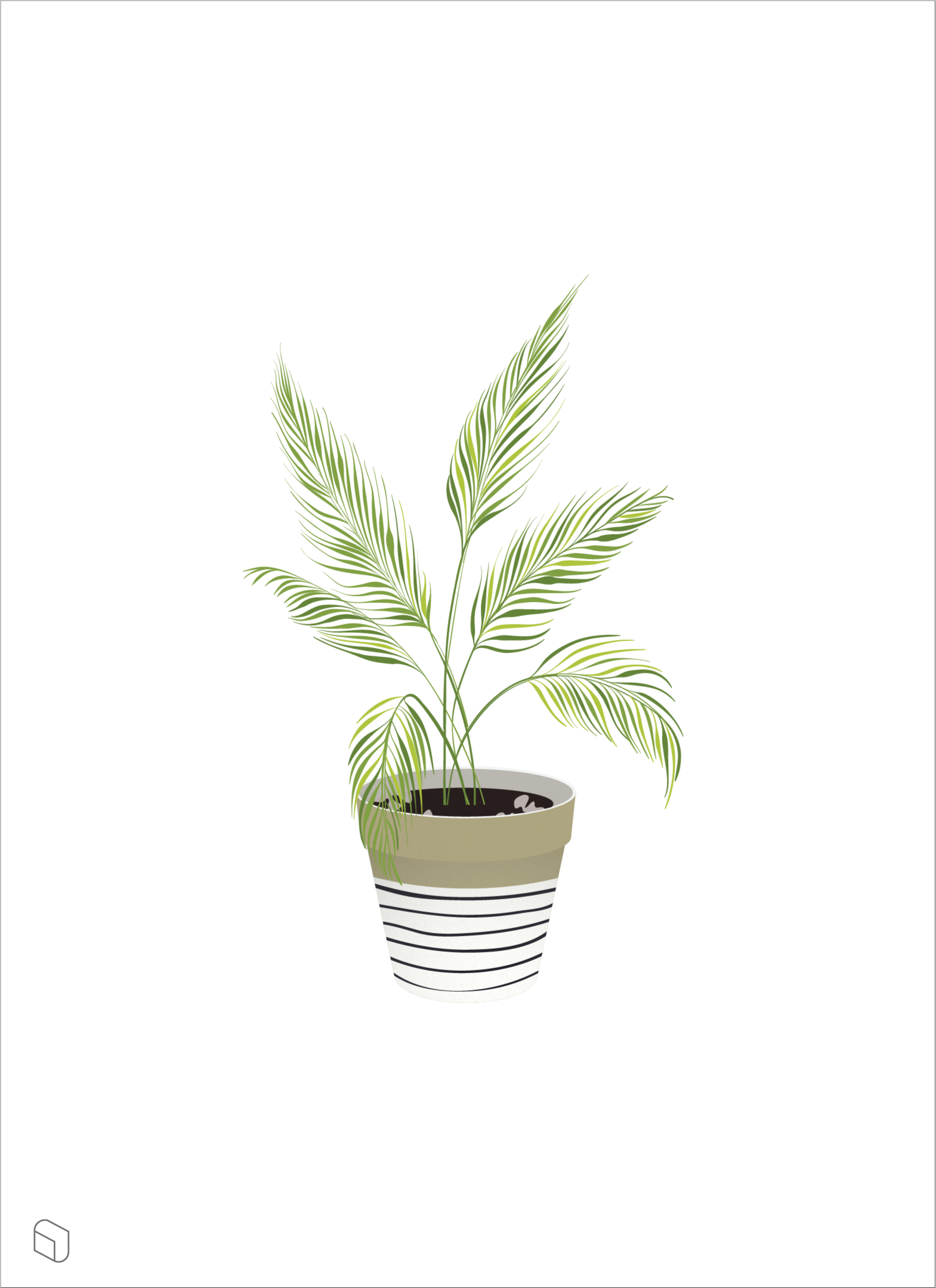 Flat Vector Indoor Plant Illustration -   13 table plants Png ideas