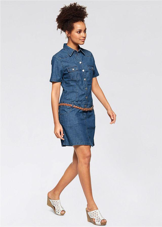 25b6f003e Strečové džínsové šaty S dvomi • 24.99 € • bonprix | oblecenie ...