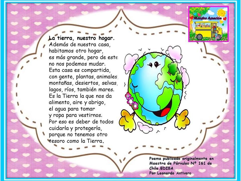 Resultado De Imagen Para Poema Nuestro Planeta Para Niños Dia Mundial Del Medio Ambiente Dia Del Medio Ambiente Medio Ambiente