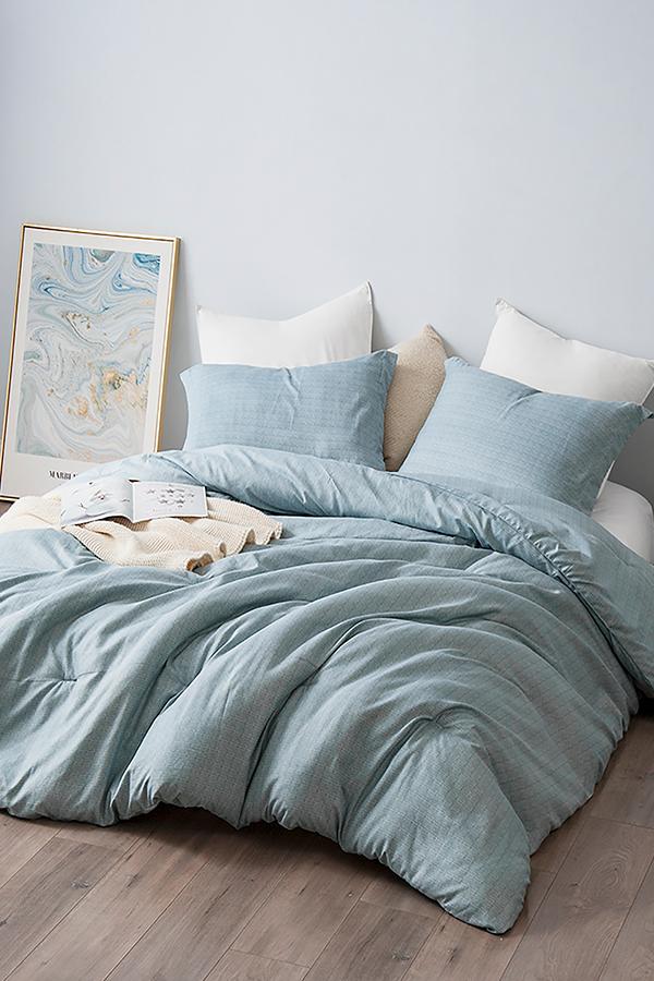 Essential Machine Washable Xl Twin Comforter Soft Microfiber Borgo College Bedding Set Blue Room Decor Dorm Comforters Light Blue Comforter