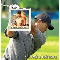 S. Tome 2003 MNH SS, Tiger Woods, Golf, Sports