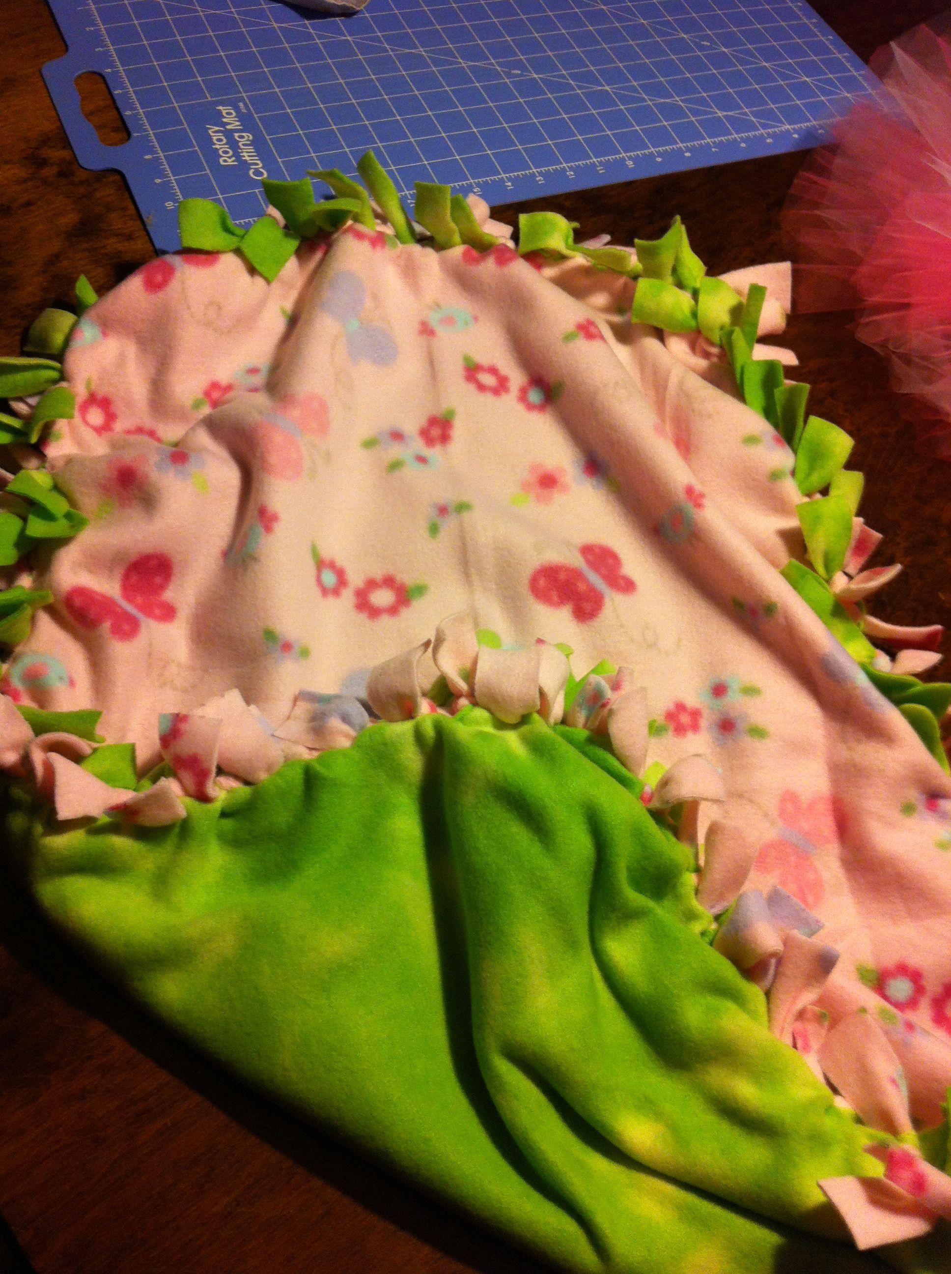 Fleece tie baby blanket a pinterest blanket and craft