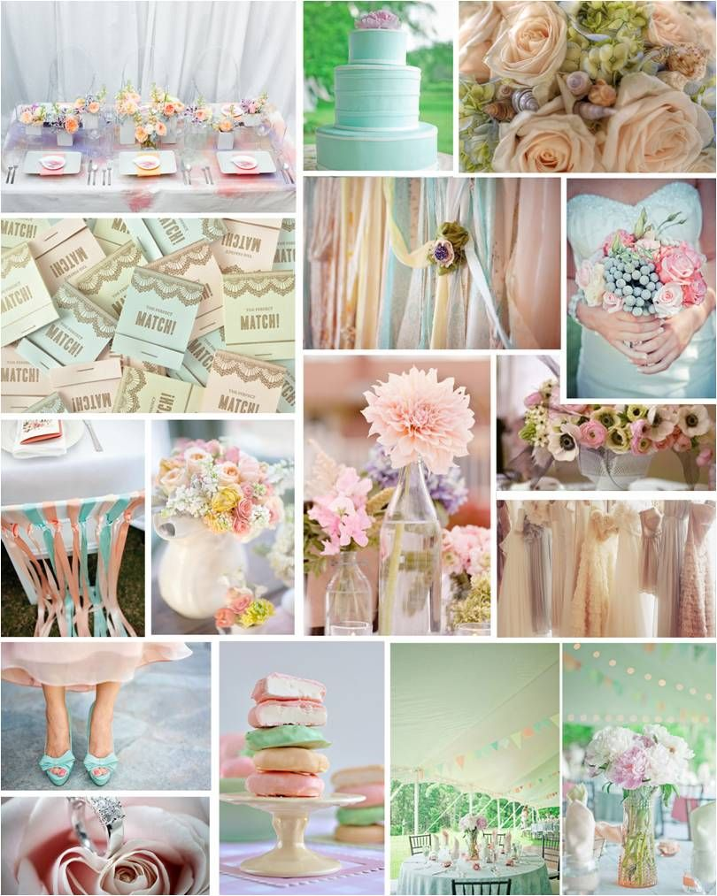 Spring Weddings Pastel Colored Decorations