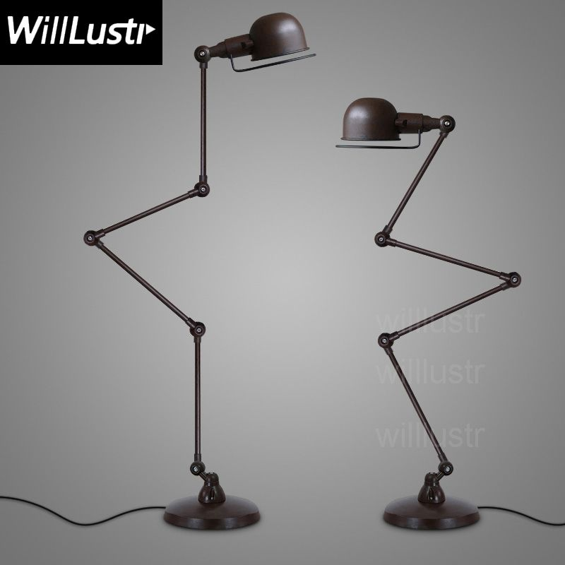 Willlustr Replica RH ATELIER TASK FLOOR LAMP sitting room Bedroom Study hotel hall sofa side floor light rust white black chrome