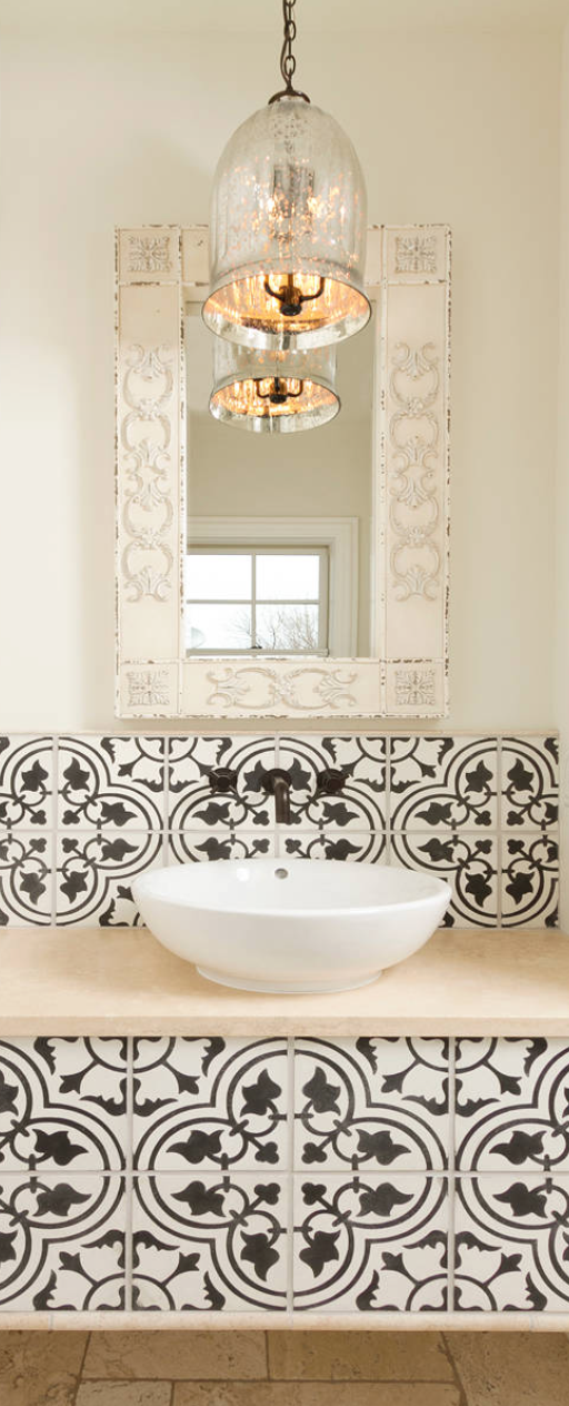 Mediterranean powder room Old World, Mediterranean, Italian, Spanish ...