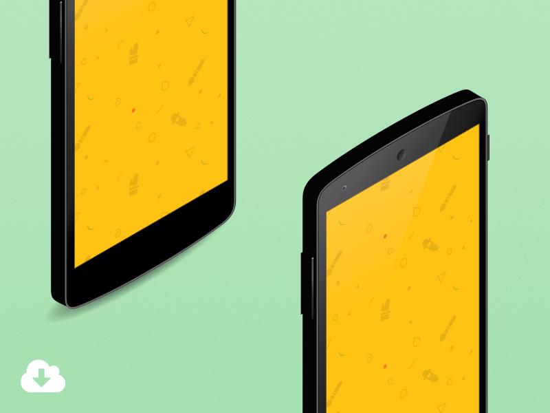 Download Android Nexus 5 Isometric Mockup Mockup Design Imac Mockup Free Iphone Mockup