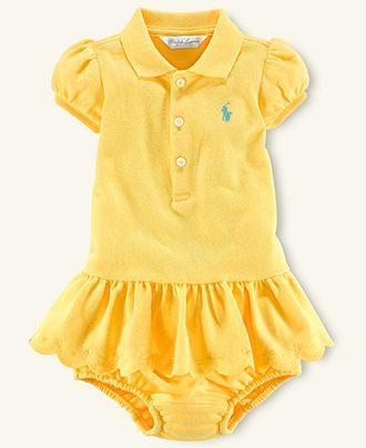 caf3ff0a8 Ralph Lauren Baby Dress, Baby Girls Mesh Polo Dress - Kids Newborn Shop -  Macy's