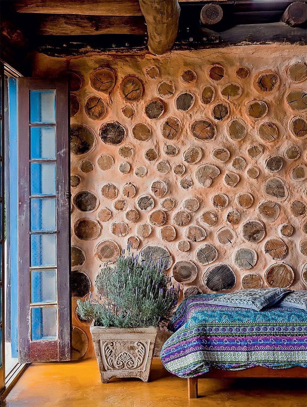 bioconstruccion | arquitectura con tierra y madera | cordwood | Wood ...