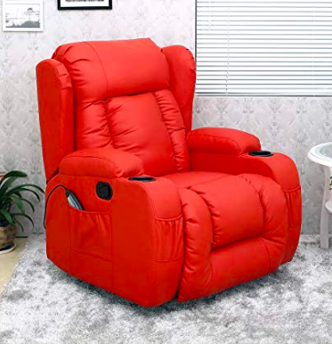 Red Massage arm Chair UK Gaming extra Comfortable 10 in 1