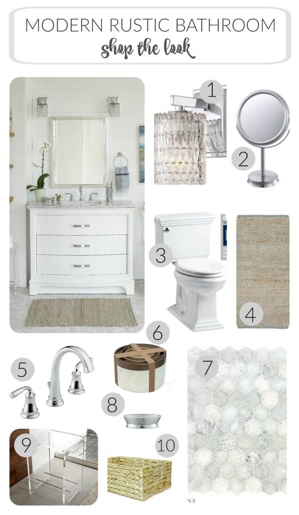 A Modern Rustic Bathroom Reveal City Farmhouse Rustic Bathroom Modern Style Bathroom Bathroom Decor