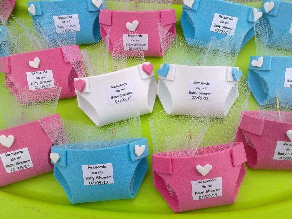 paales de foami como souvenirs de baby shower para baby shower