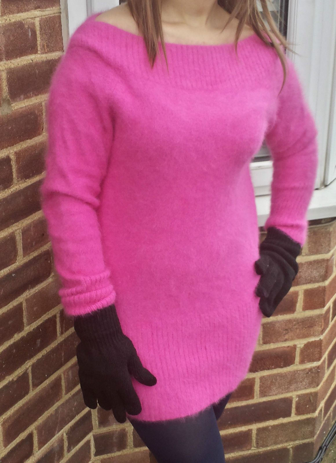 Stunning Furry Fluffy Fuzzy Hot Pink 79 Angora Sweater Jumper ...
