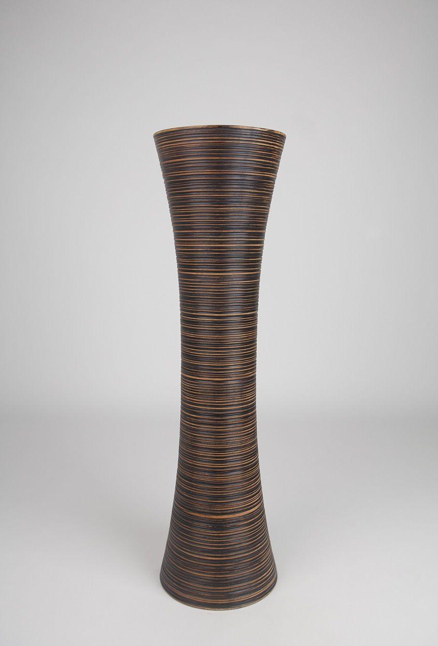large tall decorative floor vase   Decorative Tall Floor Vase - Wood -  Height 36 inch