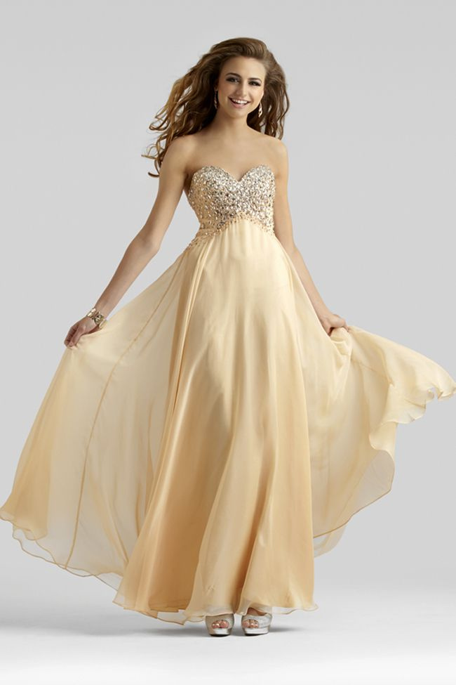 Peach Bellini Prom Dress 2362   Beaded chiffon, Prom dresses and ...