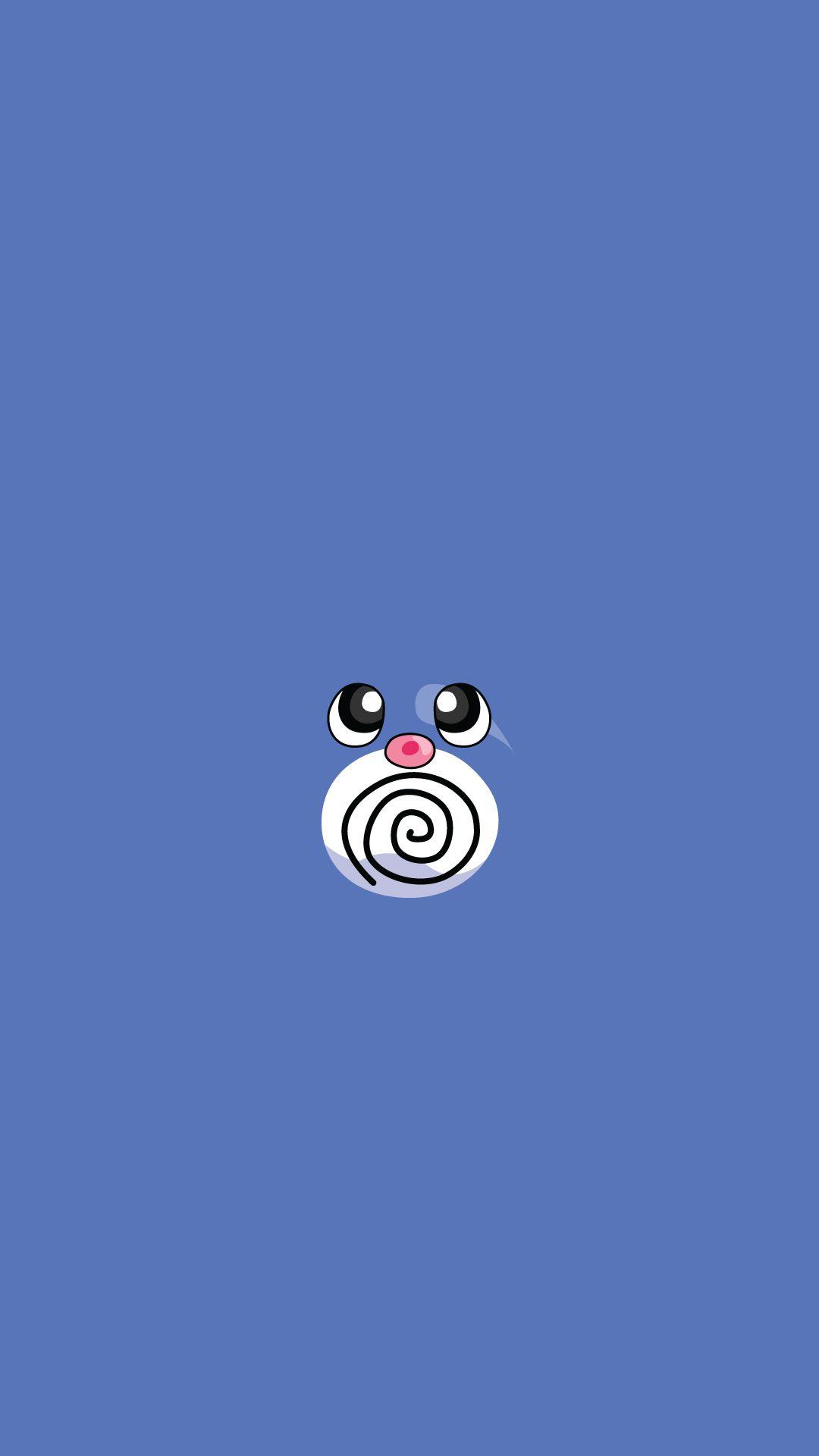 poliwag pokemon game art illustration #iphone #6 #plus #wallpaper