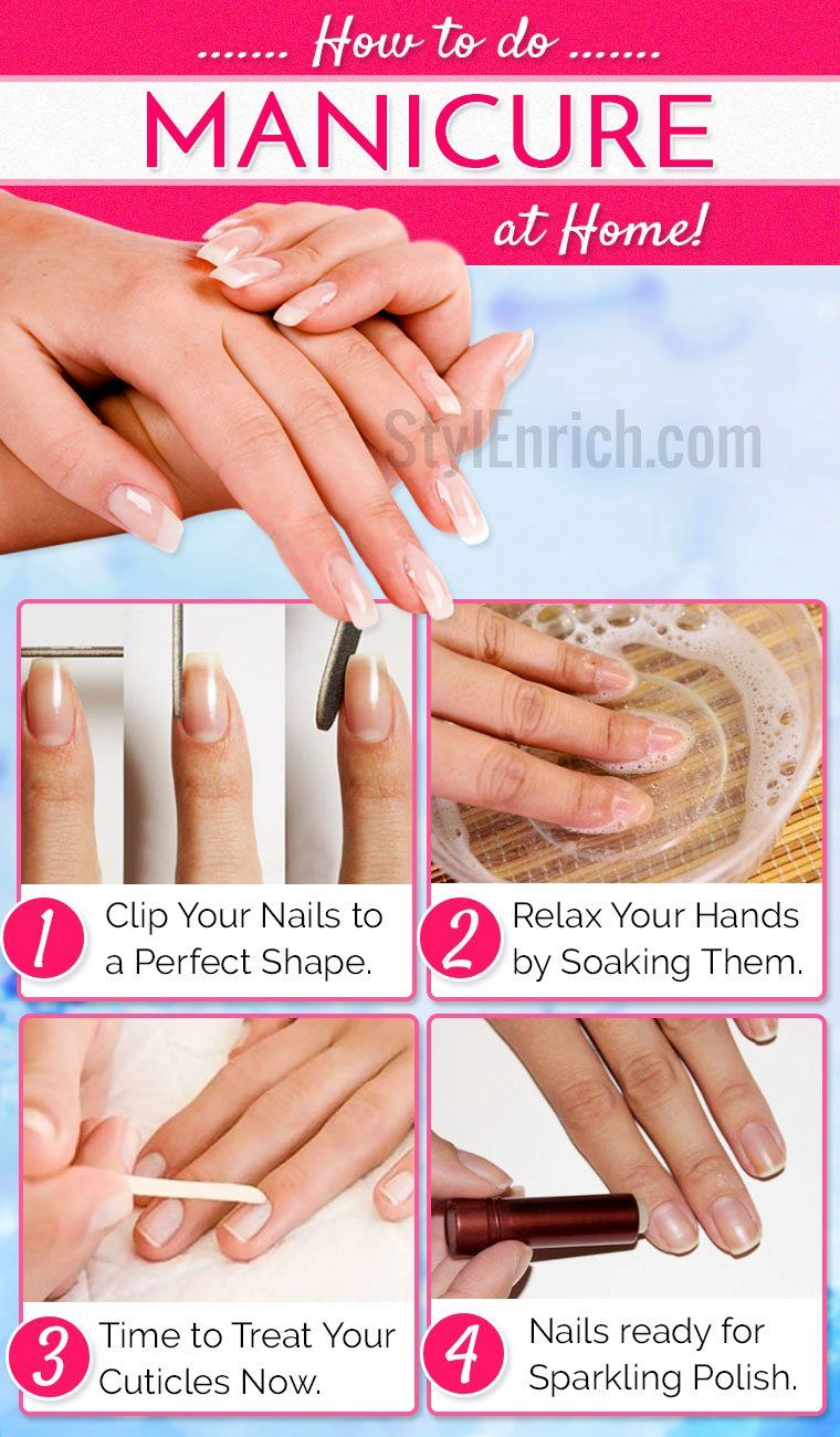 Manicure at home: step by step photos and videos for beginners. Beautiful manicure gel polish at home stage by stage 47