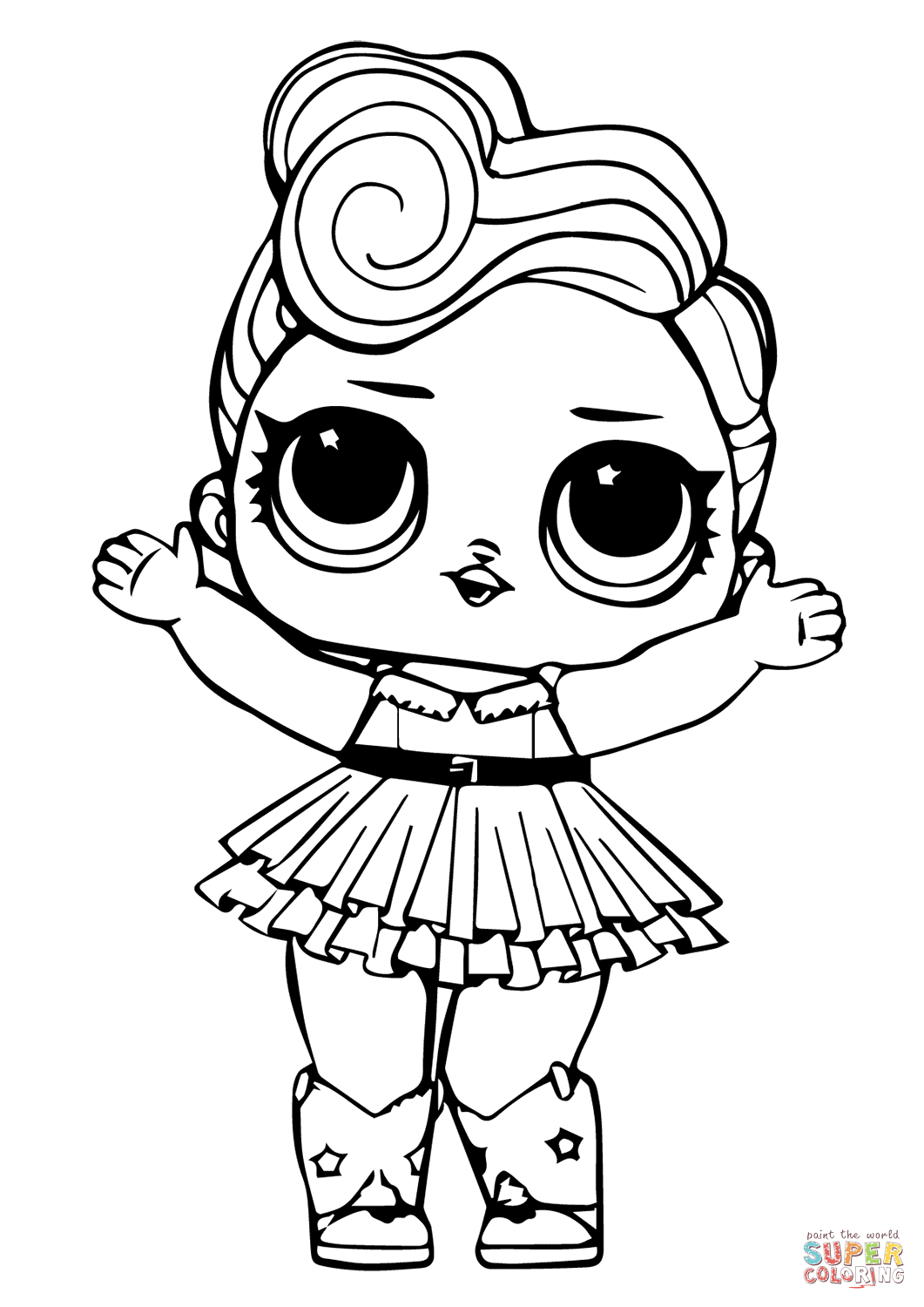 LOL Doll Luxe coloring page Free