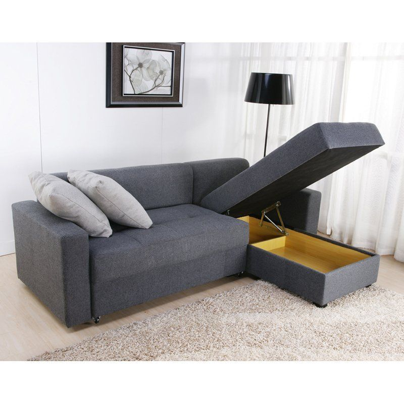 Sectional With Storage $588 DHP Sutton Convertible