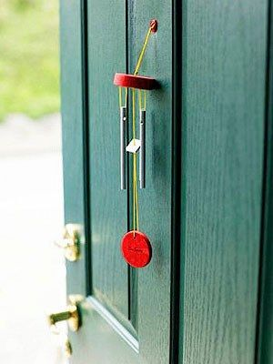 Feng Shui Front Door With Red Wind Chimes Feng Shui Pinterest