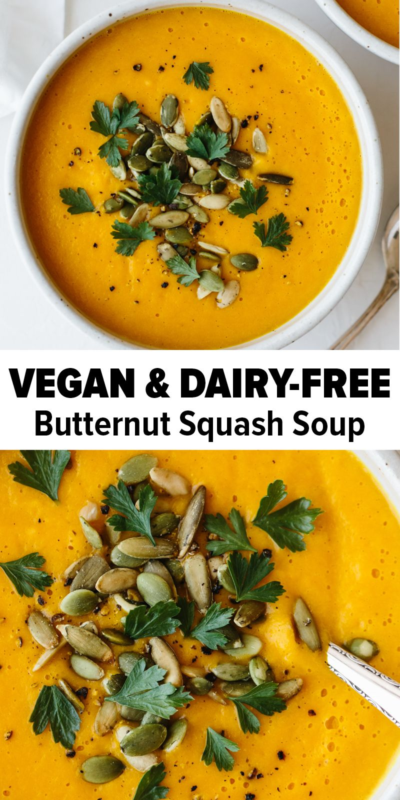 Roasted Butternut Squash Soup #butternutsquashsoup