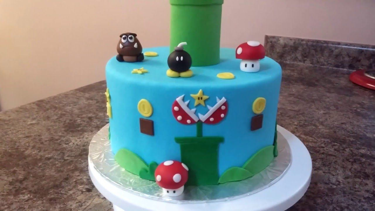 Super Mario Bros Cake Tutorial Want To Start A At Home Cake