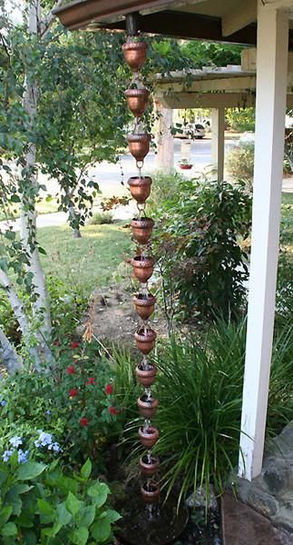 Rain Chain Acorn Copper Cups Copper Rain Chains Rain Chain Rain Chain Diy