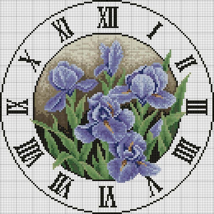 Часы - схемы вышивки крестом скачать бесплатно в. xsd