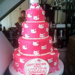 Hello Kitty birthday cake Creative Cakes Pinterest Hello