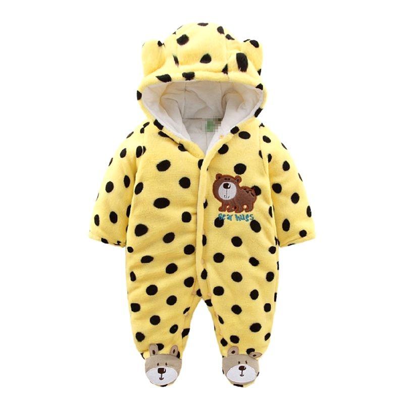 172e7e400 Newborn Baby Rompers 2017 Winter Warm Girls Clothing Coral Fleece ...