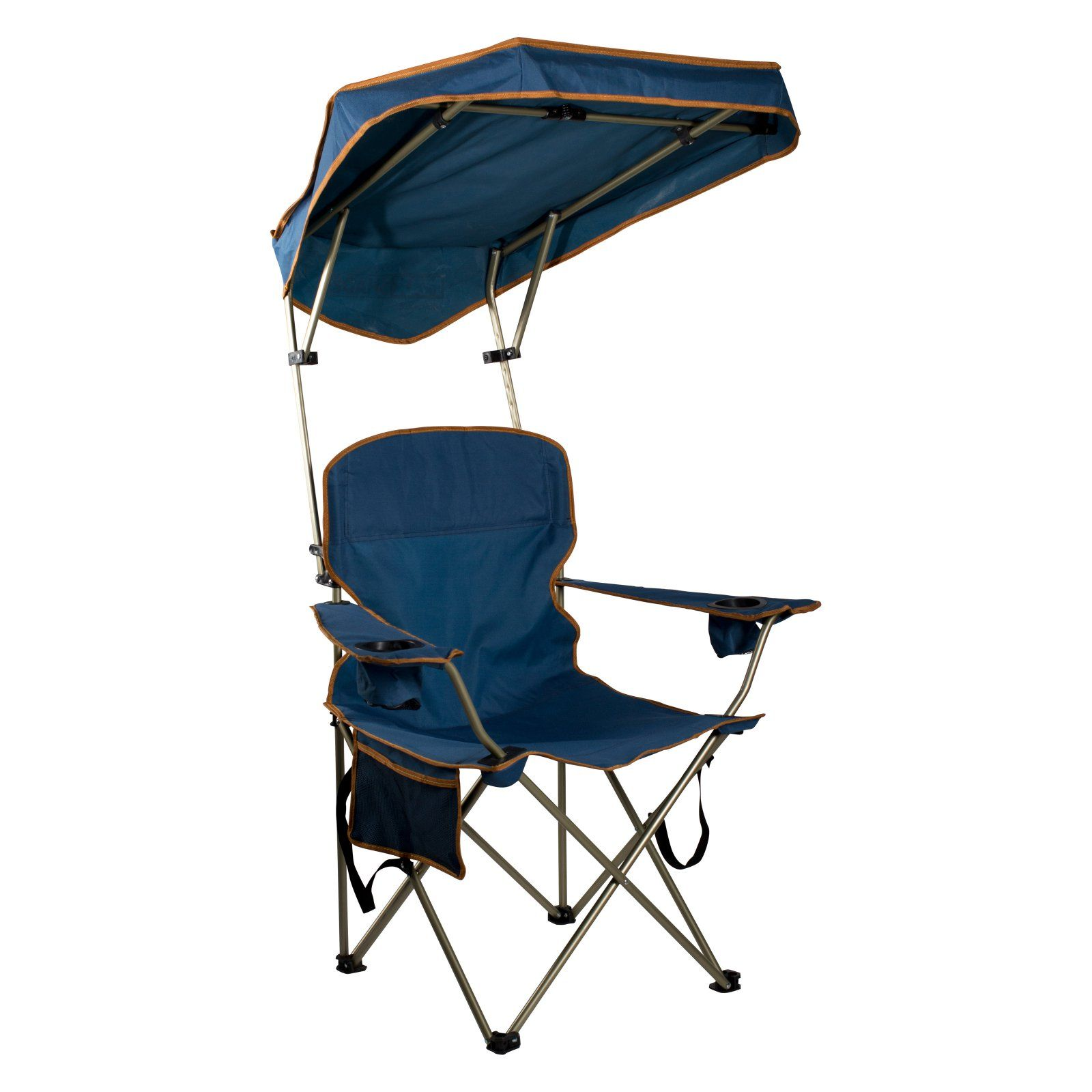 Outdoor Quik Shade MAX Navy Camp Chair with Canopy