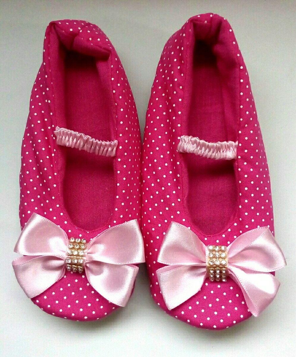 0807b740b8 Pantufas sapatilha confeccionado em tecido de cetim ou algodão Preço válido  para Tamanhos Adulto 33 34 ao 39 40 modelo Elástico Pode misturar Cores