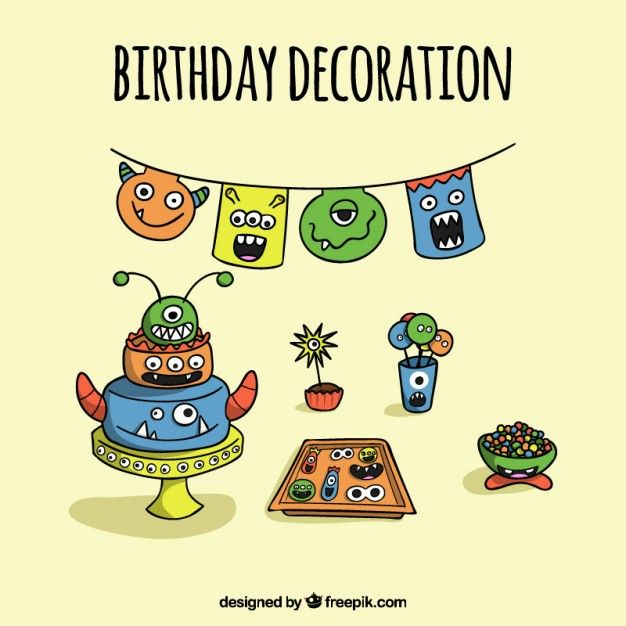Pin by Nadia Parra on Monstruitos Pinterest Birthday decorations
