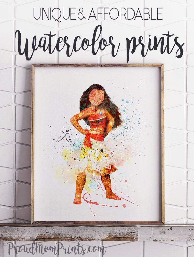 Moana Wall Art Disney Princess Princess Moana Moana Print