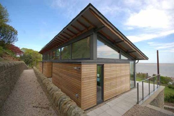 Unique Concrete Beach House Plan