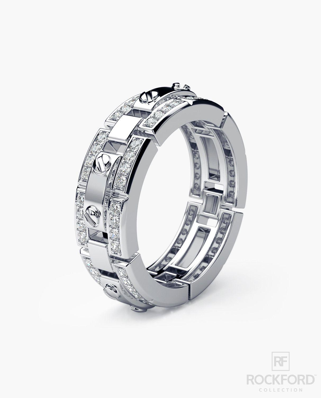 REX Mens Gold Wedding Band with Diamonds Antique wedding