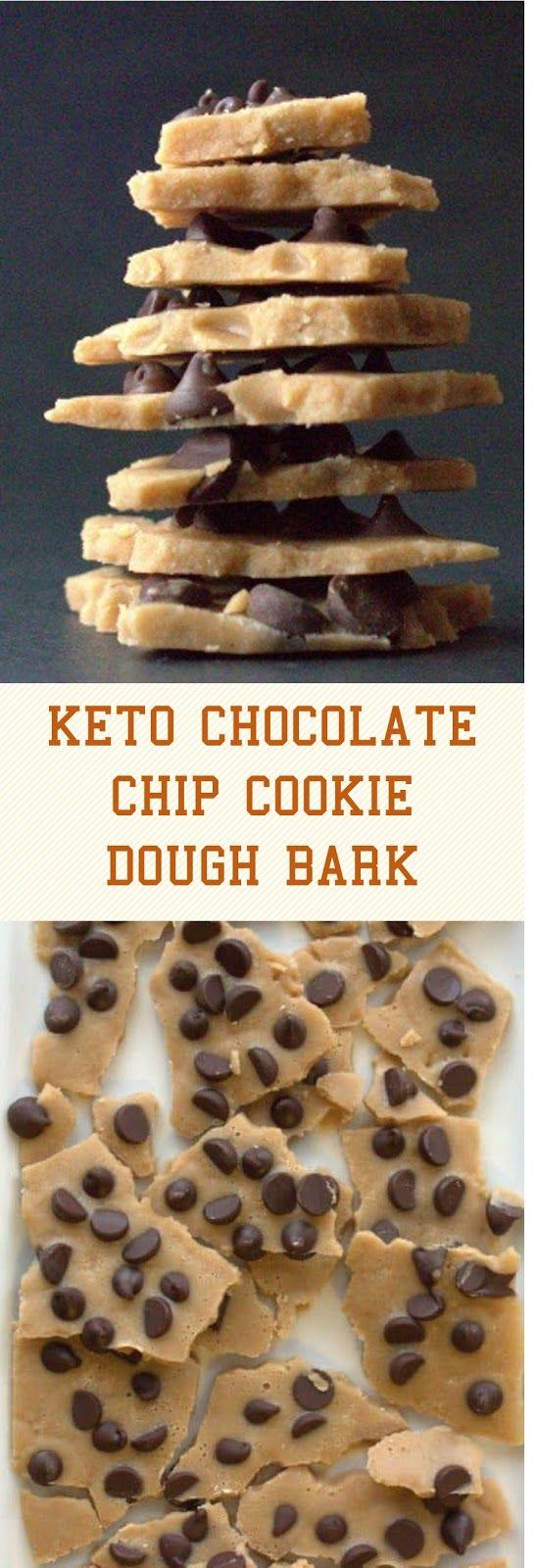 KETO CHOCOLATE CHIP COOKIE DOUGH BARK #ketochocolate #chocolatechipcookiedough