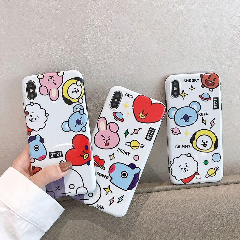 BT21 iPhone Case iPhone 8 Plus XR Case 6S 7 Case With Free Shipping Worldwide