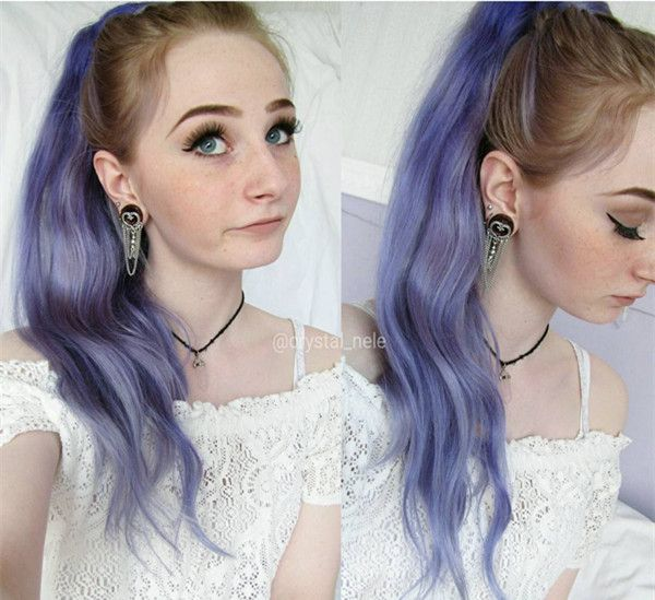 Lavender ponytail~ Pretty DIY dyeing Ponytail Extensions. Make your Longer, Fuller Ponytail