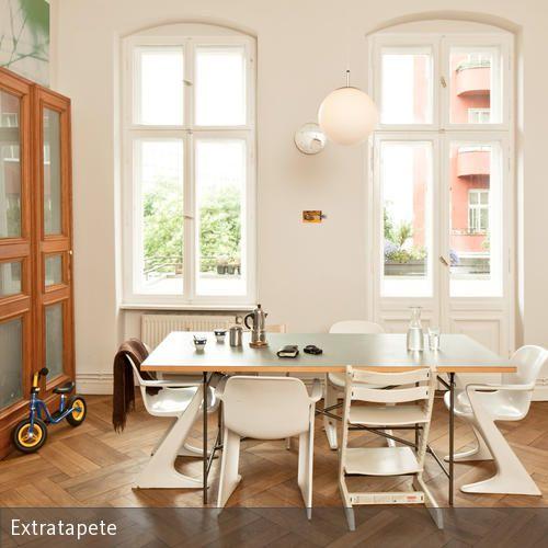 Attrayant Holzmöbel, Altbau Und Tolle Tapete! #parkett #interior #wallpaper #tapete #
