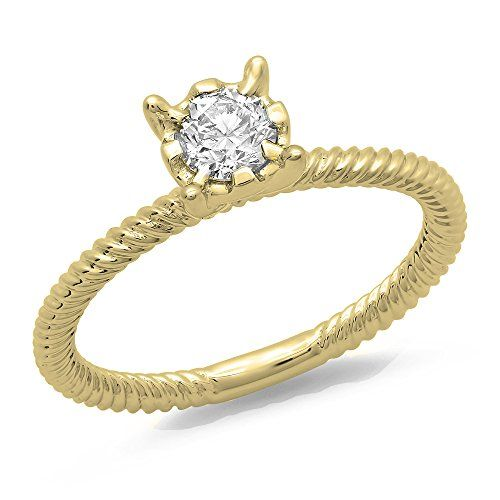 0.40 Carat (ctw) 14K Yellow Gold Round Cut Diamond Ladies Bridal Solitaire Engagement Ring (Size 9). Other ring sizes may be shipped sooner. Most rings can be resized. Items is smaller than what appears in photo. Photo enlarged to show detail. Satisfaction Guaranteed. Return or exchange any order within 30 days. All our diamonds are conflict free. Gemstone : Diamond.