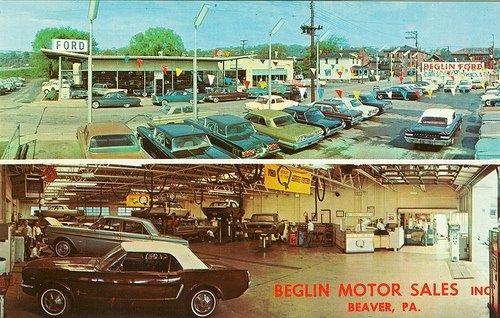 Beglin Motor Sales Ford Dealer Beaver Pa Circa 1960 S Car