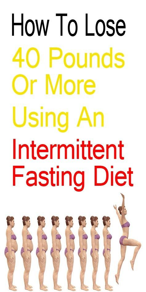 How To Lose 40 Pounds Or More On This Intermittent