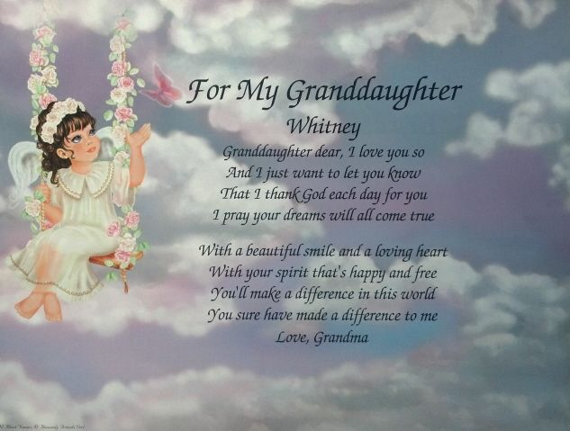 Valentines Day Quotes For Grandma: Poem For My Granddaughter Birthday Or Christmas