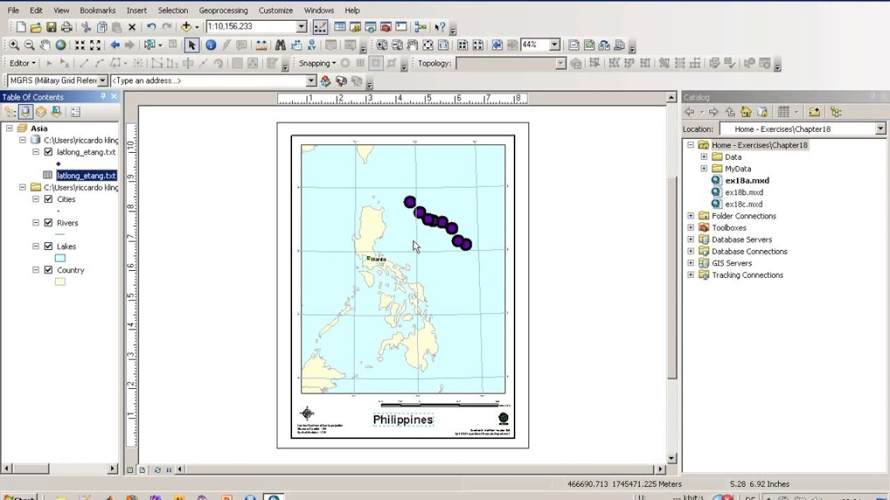 Arcgis Tutorial Map Creation Using Tampletes Geospatial Gis