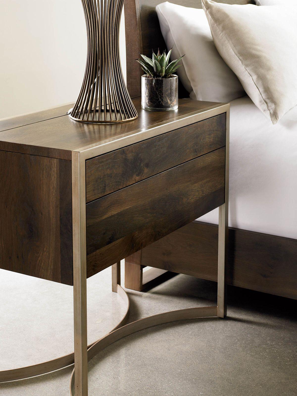 Modern Artisan 2 Drawer Nightstand. This fumed oak and