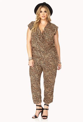 leopard jumpsuit worn in the 80s | Safari Girl Leopard Jumpsuit $27.80 | STYLE> Plus Size