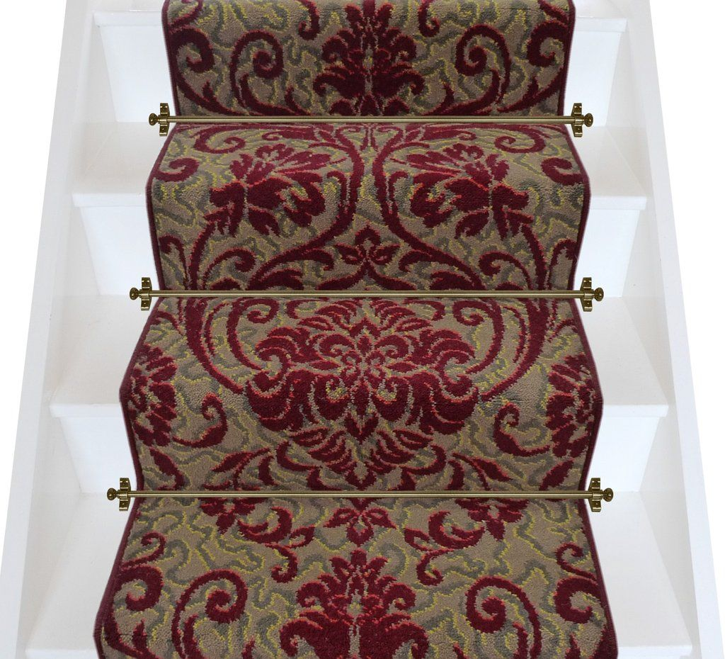 Hall Runners By The Metre Axminster Carpets Medici Ruby Damask Stair Runner Per Linear